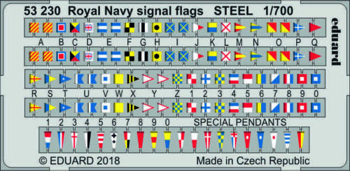 EDUARD 53230 Royal Navy Signal Flags STEEL in 1:700