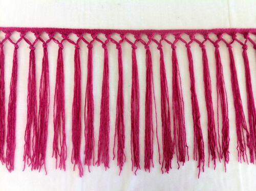 Fringe las guarniciones Rojo Rosa Etc Disponibles En 10 Colores Negro