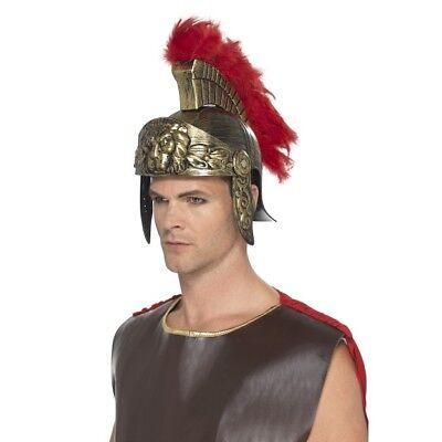 Mens Spartan Helmet Myth History Fancy Dress Soldier Warrior Rome 300 Roman Troy