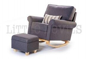 Image Is Loading GREY HUSH HUSH Rocking Chair The Luxury Nursing