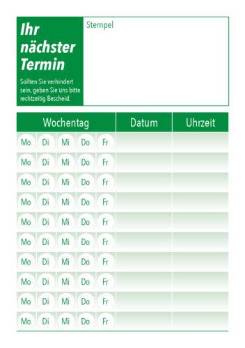 Terminblöcke Terminzettel DIN A7 für die Arztpraxis,Therapeuten Friseure uvm.