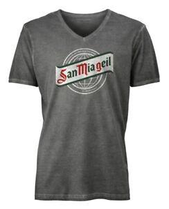 """San Mia Geil T-shirt Männer """"classic"""" Grau-graphit Geschickte Herstellung"""