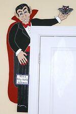 """HALLOWEEN PRIMITIVE WOOD CRAFT PATTERN-""""THE COUNT"""" -42"""" TALL DOOR HUGGER"""