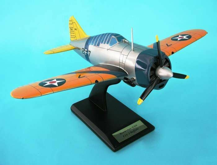 EXECUTIVE SERIES MODEL AIRCRAFT F2A-2 BUFFALO 1 24   BN   ESSN014