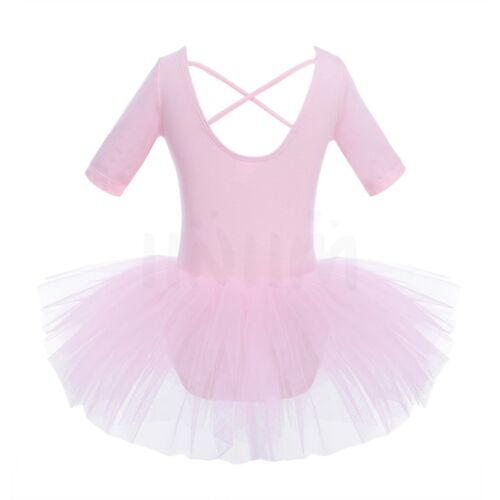 Girls Kids Tutu Ballet Dance Dress Leotard Ballerina Fairy Dancewear Gym Costume