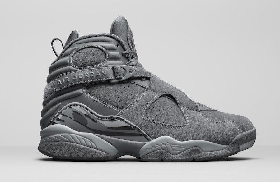 Nike air jordan 8 v - 8 jordan - kühle grau - weiß größe 8,5.305381-014. 9832da
