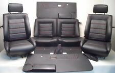 VW Golf 1 Cabrio Kunstlederbezüge für die Innenausstattung Sitze schwarz    A