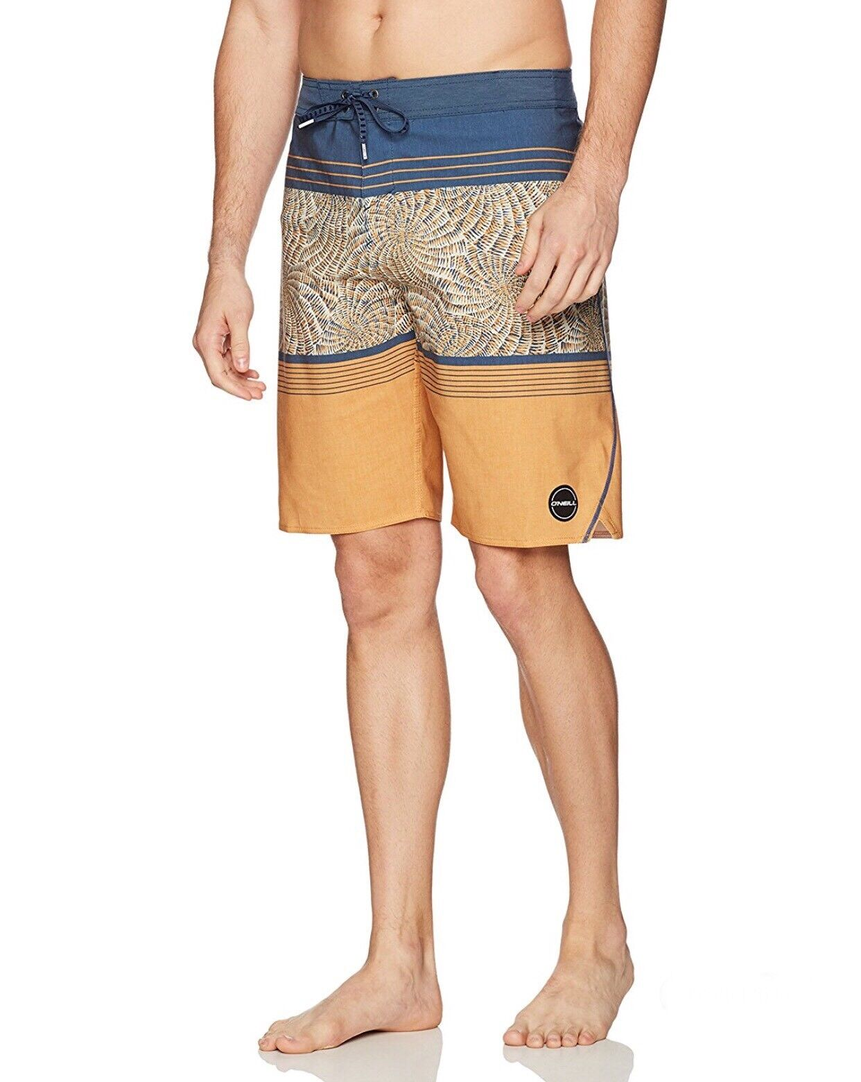 NEW Oneill HyperFreak Nautilus S-Seam Trunks Bordshort Navy gold Mns Size 32