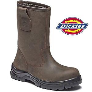 design di qualità 5ea25 8485c Dettagli su Dickies Quinton Stivali da Lavoro pelle Punta in Composito  Sicurezza Leggero