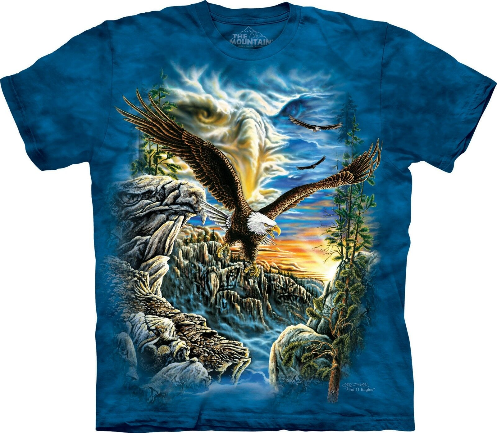 Find 11 Eagles Bird T Shirt Adult Unisex The Mountain