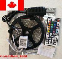 AC DC 16ft 5M 300LED SMD 3528/5050/5630 RGB/White Flexible Strip Light Remote