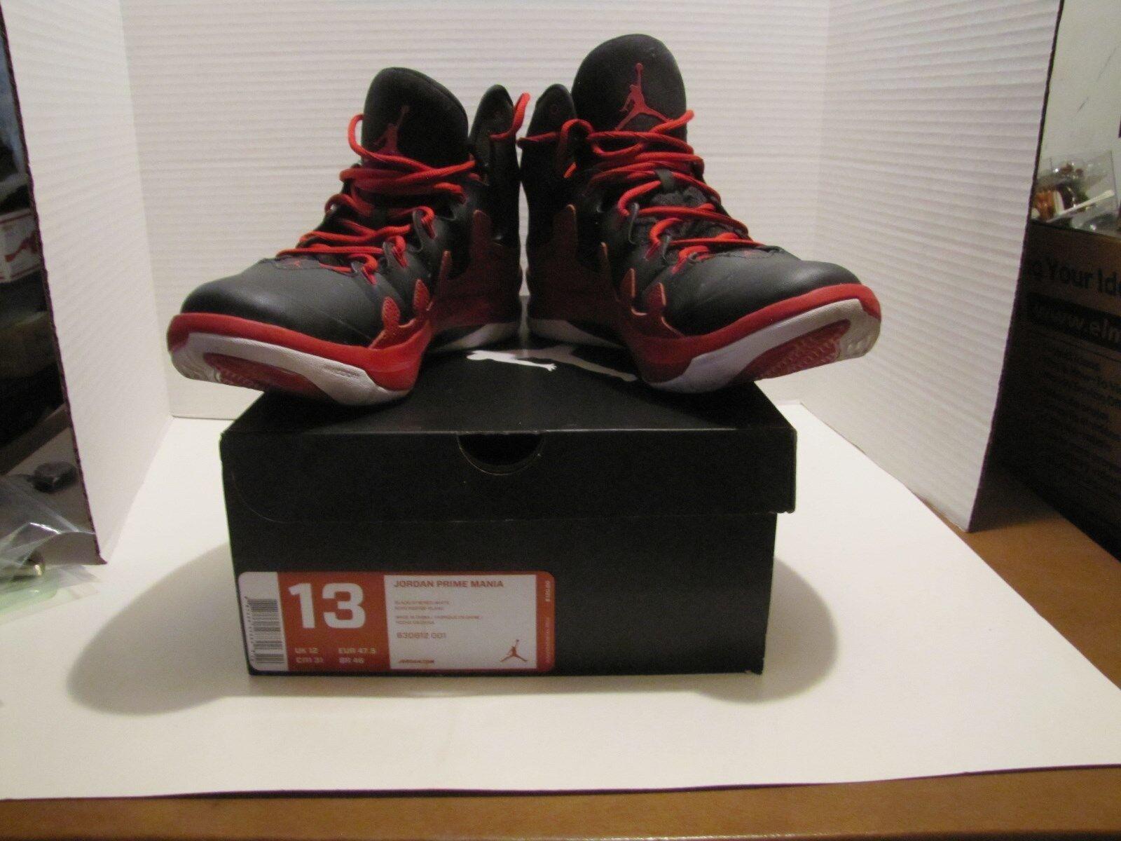 PREOWNED NIKE AIR JORDAN JORDAN PRIME MANIA BLACK & RED Price reduction The most popular shoes for men and women