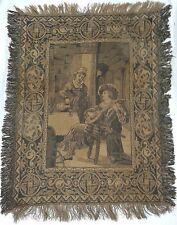 Antiguo tapiz del siglo XIX, imagen de un trovador