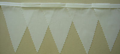 White MINI Fabric Bunting Wedding Christening Party Baby Shower  Decoration 3mt