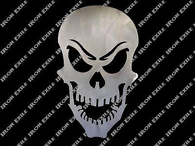 Skull Metal Stencil Wall Art Garage Hot Rat Rod Motorcycle Chopper Bobber