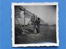 Foto Ostfront  Wehrmacht Deutscher Soldat  mit 4x Fla-MG Maxim auf Lafette