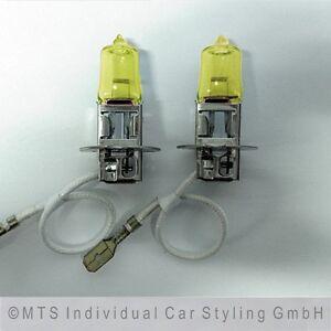 H3-Gelbe-Gluehlampen-Lampen-Birnen-GELB-Scheinwerfer-Nebelscheinwerfer-Fern-SW