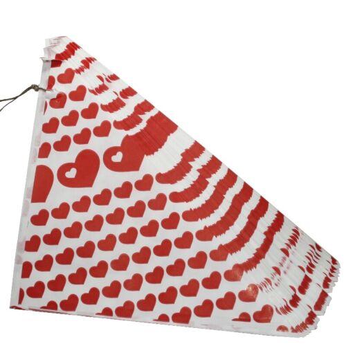 NUOVO della Carta Sacchetti di masterizzati MANDORLE CONFETTI 100 a Punta Rossa dei sacchetti 125gr noci