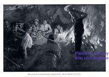 Lagerfeuer im Yoho Nationalpark Kanada XL Kunstdruck 1914 von Craig Kanada Camp