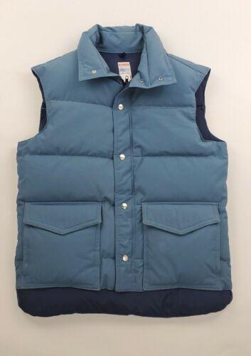Vtg Frostline Blue Puffer Vest Men's Size Medium