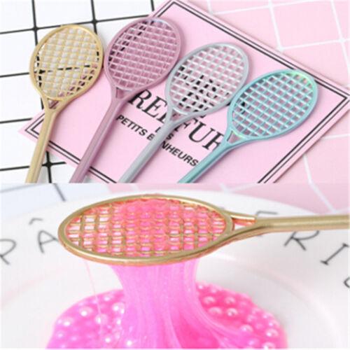 19.5cm DIY Mini PVC Badminton Racket For Kid Fluffy Slime Form Crystal SoilKitca