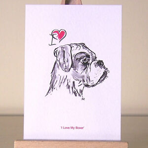 I-love-my-Boxer-Dog-drawing-miniature-ACEO-art-card-humans-who-034-heart-034-boxers
