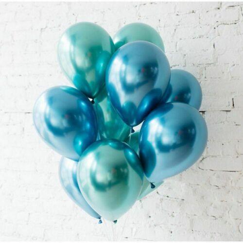 10pcs 12/'/' Metallic Latex Chrome Balloons Helium Wedding Birthday Party Baloons