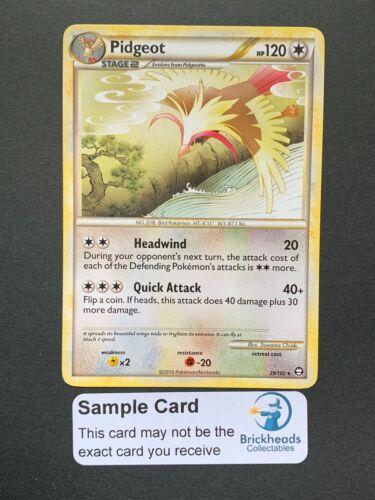 TriumphantPokemon Card Pidgeot 29//102 RareHGSS