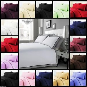 Luxury-100-Egyptian-Cotton-Duvet-Quilt-Cover-amp-Pillowcase-Bedding-Set-All-Sizes