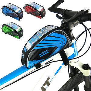 mtb fahrrad bike rahmentasche wasserdicht fahrradtasche f r iphone samsung ebay. Black Bedroom Furniture Sets. Home Design Ideas