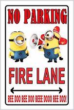 Minion Fire Lane NO Parking! Street sign Bee Doo Bee Doo!
