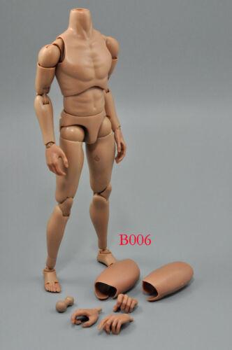 SCALA 1//6 Corpo Maschile Con Collo Slim spalla ZY standard B006 Nero e Bianco//collo