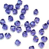 6mm Tanzanite (539) Genuine Swarovski crystal 5328 / 5301 Loose Bicone Beads