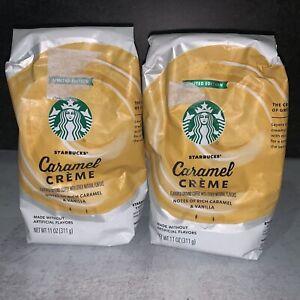 2 Starbucks Caramel Creme Light Roast Ground Coffee 11oz ...