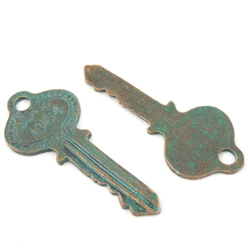 Multi Types Antique Style Bronze Alloy Key Shaped Pendant Charms Craft Finding