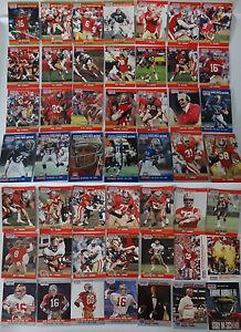 1990-Pro-Set-Series-1-amp-2-Update-San-Francisco-49ers-Team-Set-49-Football-Cards