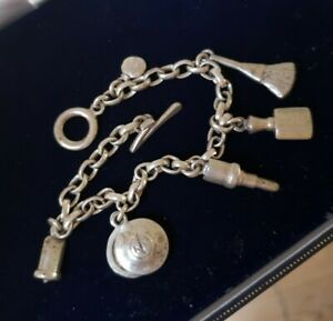 Dower & Hall Sterling Silver  Charm Bracelet  with Make Up Charms RRP £145