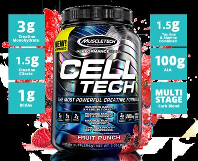 MuscleTech Cell tech 3 LB Performance Series Hardgainer Creatine Celltech 1.4 kg | eBay
