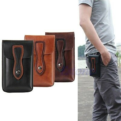 PU Leather Belt Holster Loop Pouch Pocket Bag Case + Buckle For Cell Phone