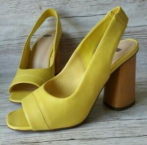 M\u0026S Insolia Lemon Yellow Open Peep Toe