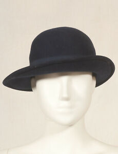 034-OMNICHAP-034-annees-70-francais-Vintage-Feutre-Chapeau-Taille-54-S