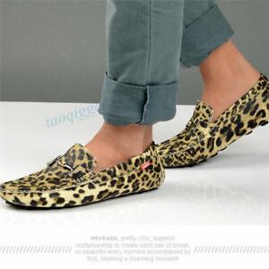 Fashion Men Loafers Flats Leopard