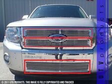 GTG 2008 - 2012 Ford Escape 3PC Polished Overlay Combo Billet Grille Grill Kit