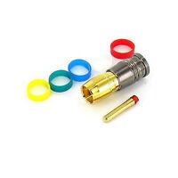 Compression Rca Gold Coax Connectors Rg6 Pack Of 10