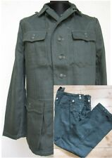 WH M40 Drillich Uniform Feldjacke + Feldhose HBT Tunic Gr 48 WK2 WWII Wehrmacht
