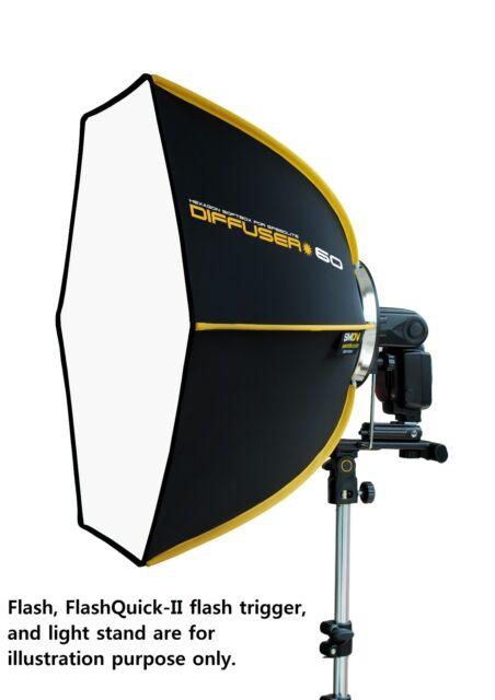 SMDV Diffuser-60 Professional Softbox for Speedlight Speedlite T5D Quantum Flash