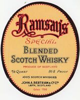 RAMSEY'S SPECIAL BLENDED SCOTCH WHISKY: Whisky label (C19364).