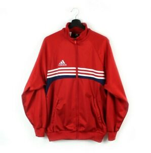 Y2k adidas EQT Equipment vintage track jacket tracksuit 3 stripes 2000s red XS S
