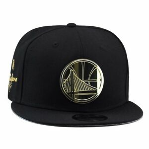 huge selection of f7070 b1e26 Image is loading New-Era-GOLDEN-STATE-WARRIORS-Snapback-Hat-BLACK-
