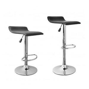 Image is loading 2-Pcs-Black-New-Modern-Adjustable-Synthetic-Leather-  sc 1 st  eBay : stools and chairs - islam-shia.org